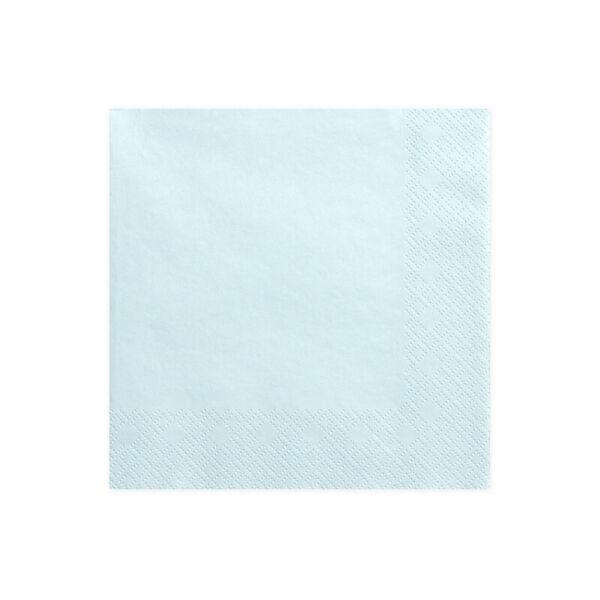 szalvéta 33x33 cm 3 rétegű (20 db/cs) – púderkék