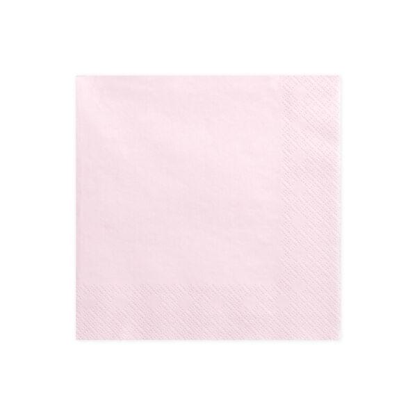 9d13515af4 szalvéta 33x33 cm 3 rétegű (20 db/cs) – púderrózsaszín - papír
