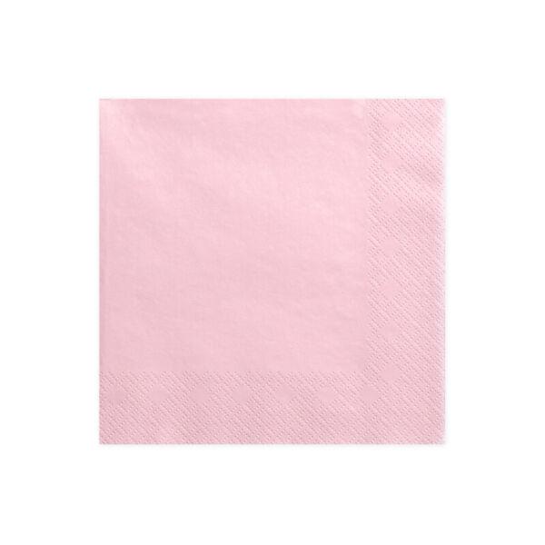 szalvéta 33x33 cm 3 rétegű (20 db/cs) - rózsaszín