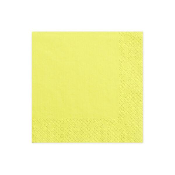 szalvéta 33x33 cm 3 rétegű (20 db/cs) - sárga