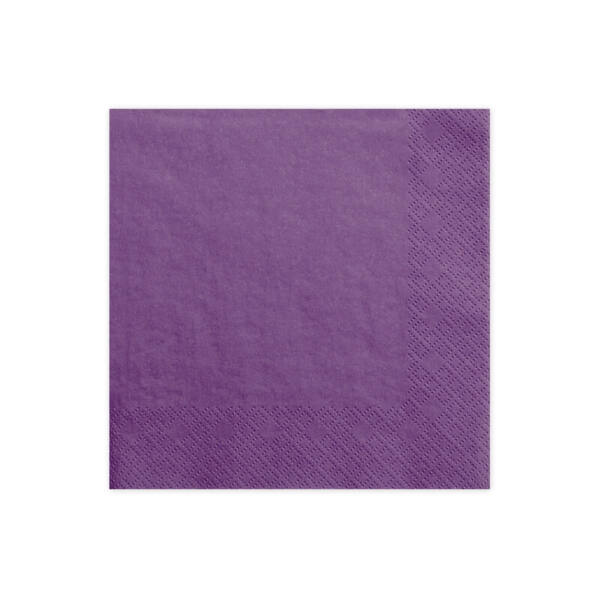 szalvéta 33x33 cm 3 rétegű (20 db/cs) – sötétlila