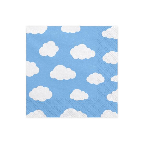 szalvéta 33x33 cm 3 rétegű (20 db/cs) – felhős