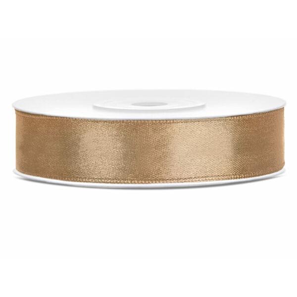 12 mm széles szatén szalag (25 m) - arany