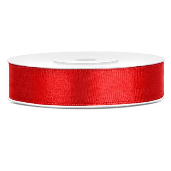 12 mm széles szatén szalag (25 m) - piros