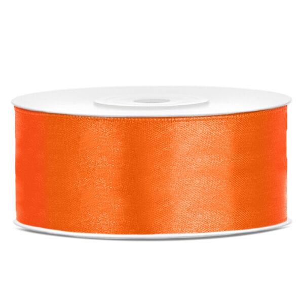 25 mm széles szatén szalag (25 m) - narancs