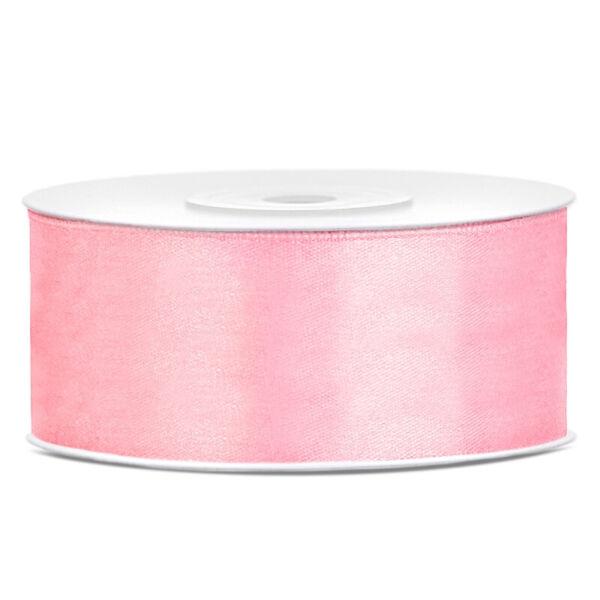 25 mm széles szatén szalag (25 m) - rózsaszín