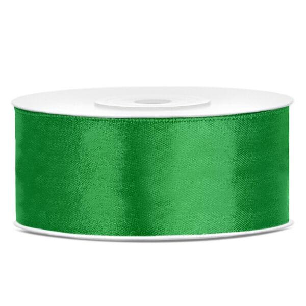 25 mm széles szatén szalag (25 m) - smaragdzöld