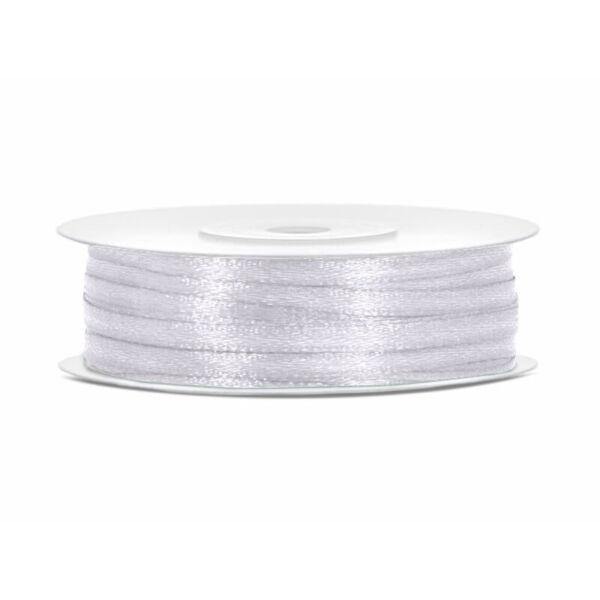 3 mm széles szatén szalag (50 m) - fehér