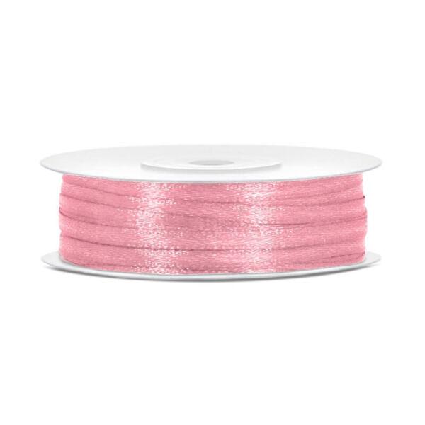 3 mm széles szatén szalag (50 m) - rózsaszín