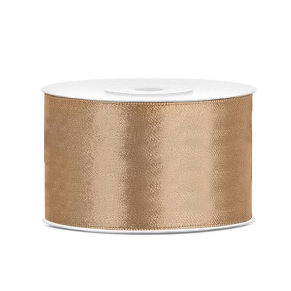 38 mm széles szatén szalag (25 m) - arany