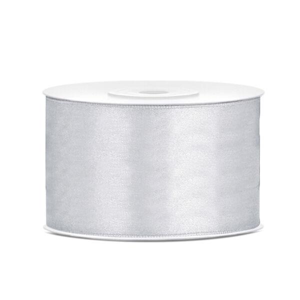 38 mm széles szatén szalag (25 m) – ezüst