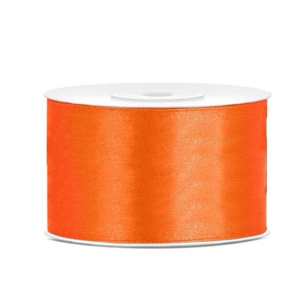 38 mm széles szatén szalag (25 m) – narancs