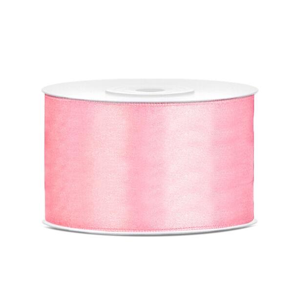 38 mm széles szatén szalag (25 m) – rózsaszín