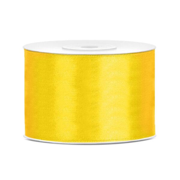 50 mm széles szatén szalag (25 m) - citromsárga