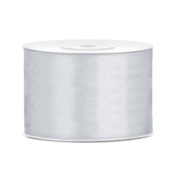 50 mm széles szatén szalag (25 m) – ezüst