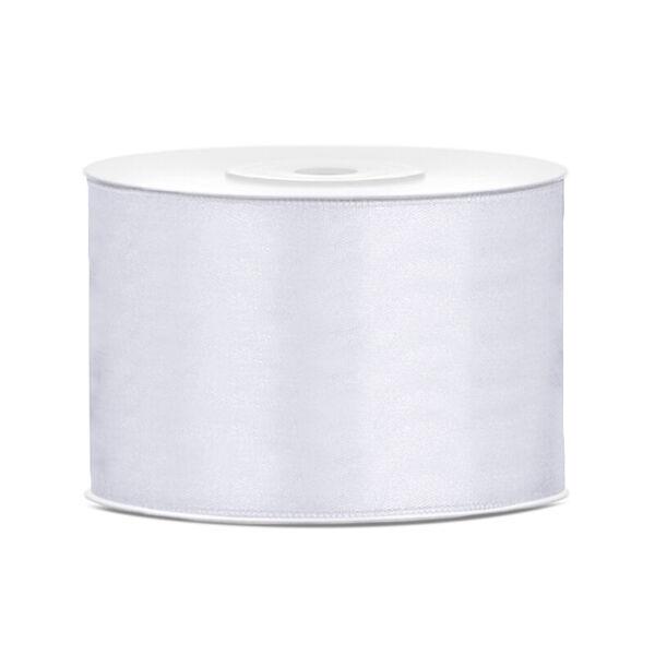 50 mm széles szatén szalag (25 m) - fehér