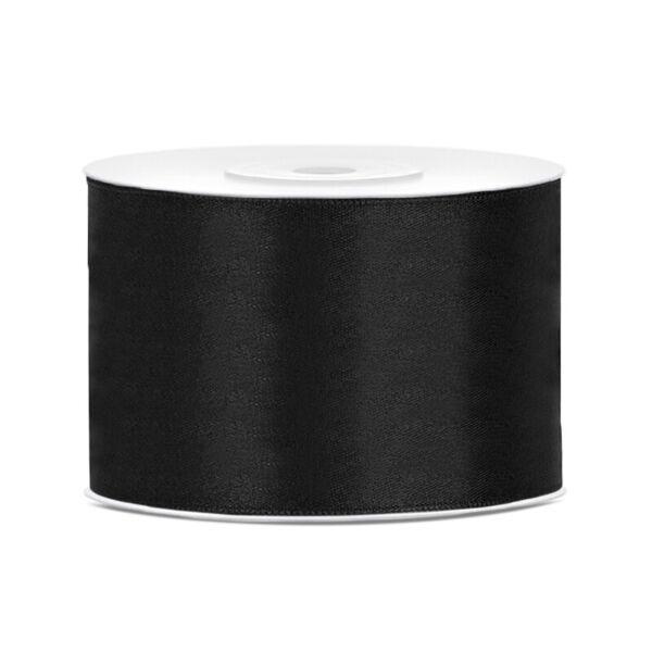 50 mm széles szatén szalag (25 m) - fekete