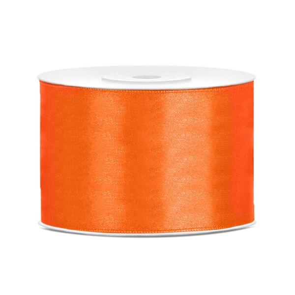 50 mm széles szatén szalag (25 m) - narancs