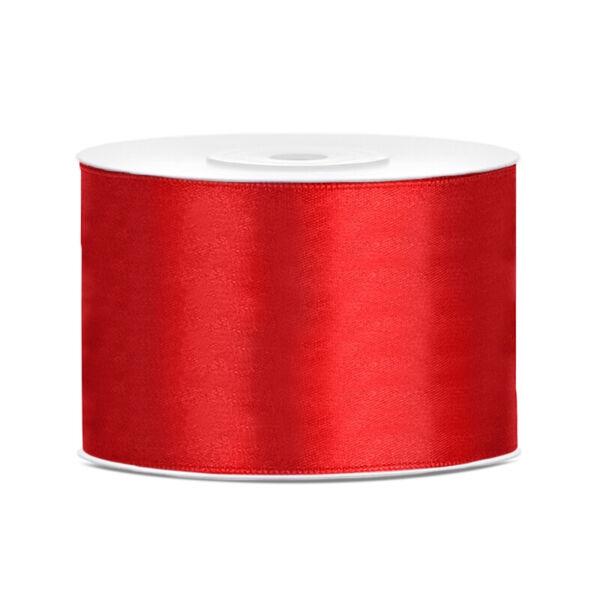 50 mm széles szatén szalag (25 m) - piros