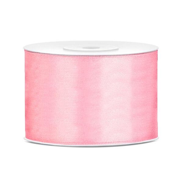 50 mm széles szatén szalag (25 m) - rózsaszín