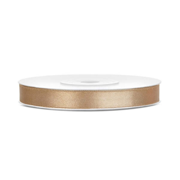 6 mm széles szatén szalag (25 m) - arany