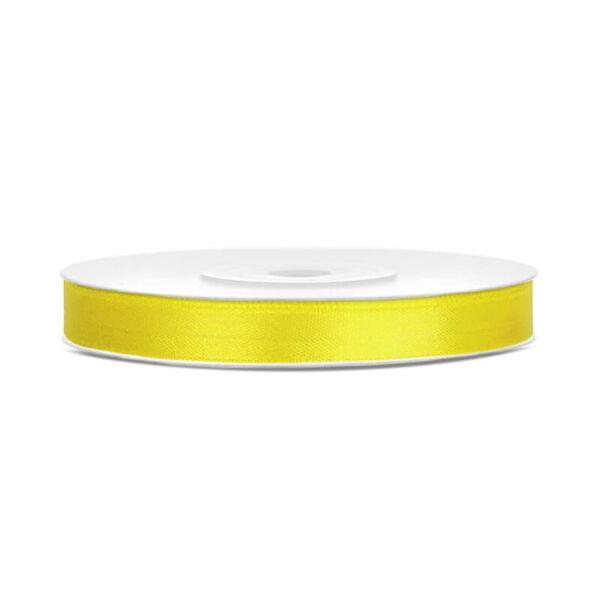 6 mm széles szatén szalag (25 m) - citromsárga