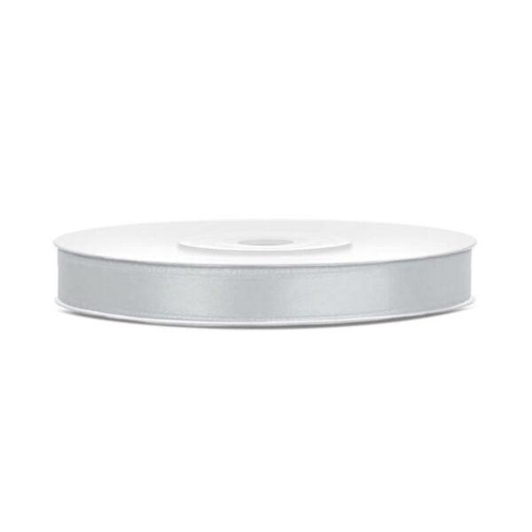 6 mm széles szatén szalag (25 m) - ezüst