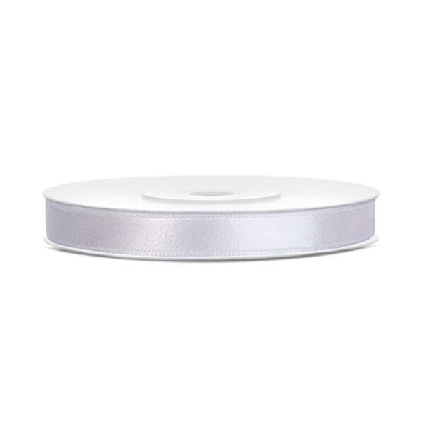 6 mm széles szatén szalag (25 m) - fehér