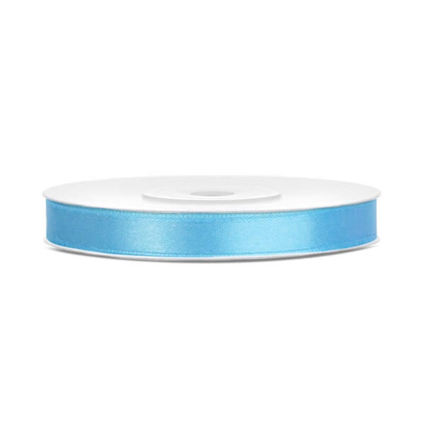 6 mm széles szatén szalag (25 m) - világoskék