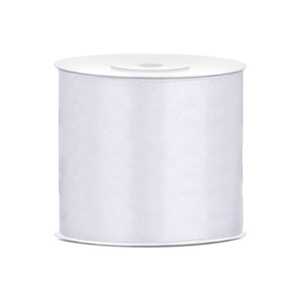75 mm széles szatén szalag (25 m) – fehér