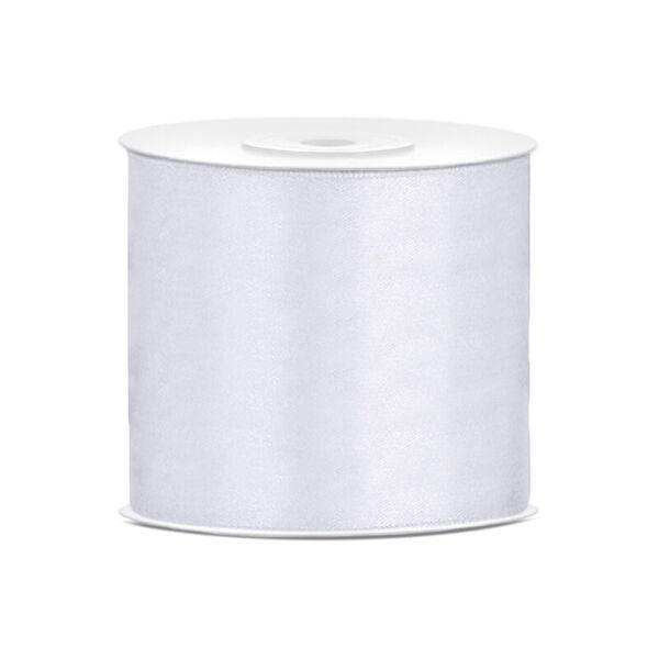 75 mm széles szatén szalag (25 m) - fehér