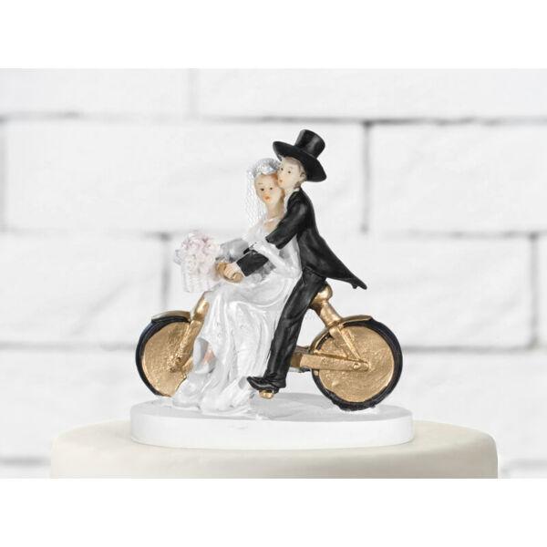 esküvői tortadísz – bicikli