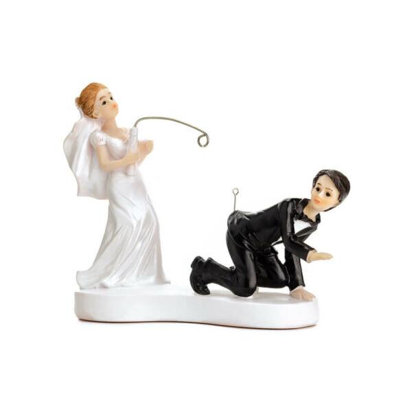 esküvői tortadísz - horgász