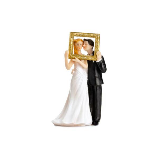 esküvői tortadísz - képkeret