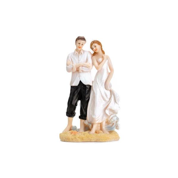 esküvői tortadísz - tengerpart