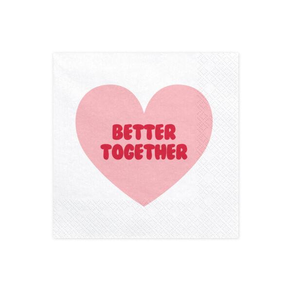 szalvéta 33x33 cm 3 rétegű (20 db/cs) – sweet love
